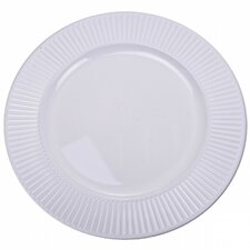 33cm Embossed Bevelled Rim Round Charger Plate (Set of 6)