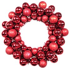 "16"" Battery Operated Ball Wreath"