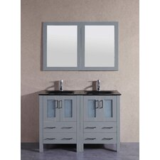 47.3 Double Vanity Set with Mirror by Bosconi