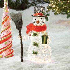 Snowman Christmas Decoration With Clear