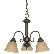 Gurney 3-Light Shaded Metal Chandelier