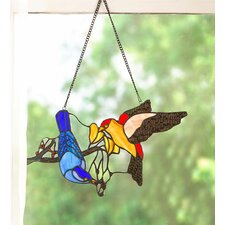 Birds Stained Glass Hanging Art