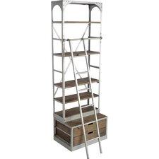 """Lindel 96"""" Iron Etagere Bookcase"""