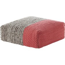 Mangas Space Square Plait Ottoman by GAN RUGS