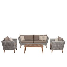 Elsmere Patio 4 Piece Deep Seating Group with Cushions