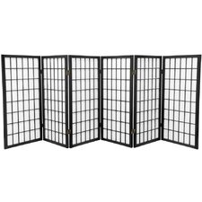 Noan 35.75 x 86 Window Pane Shoji 6 Panel Room Divider by World Menagerie