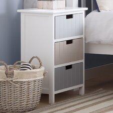 Carver 3 Drawer Bedside Table