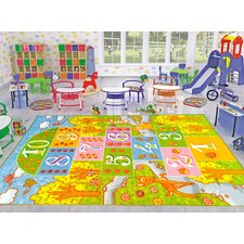 Playtime Machine Woven Green Indoor/Outdoor Area Rug
