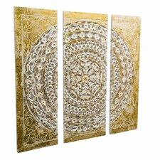 3-tlg. Wanddekoration-Set Ornamentik