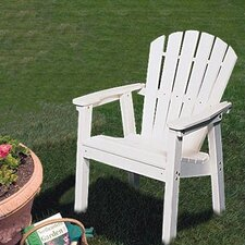 Adirondack Shell Back Deck Chair - EnviroWood by Seaside Casual