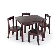 Tatianna Kids 5 Piece Table and Chair Set