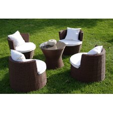 Geo Vase 5 Piece Lounge Seating Group with Cushion