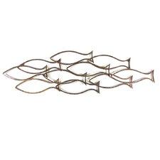 Fish Shoal Outline Wall Décor