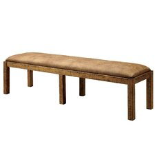 Marion Wood Dining Bench by Loon Peak