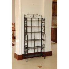 Snowberry Six Shelf Iron CD/DVD Rack