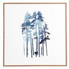 Winter Wolf Framed Graphic Art