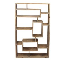 Divided Wood Wall Shelf