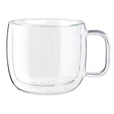 Sorrento Plus Double-Wall Glass Cappuccino Mug (Set of 2)