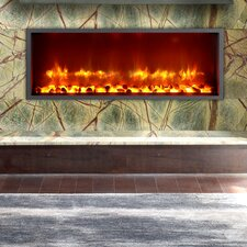 """35"""" Built-in LED Wall Mount Electric Fireplace Insert"""