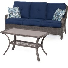 Orleans 2-Piece Patio Seating Group with Cushion by Hanover