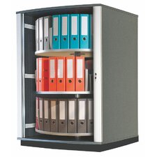 Lockfile Binder and File Carousel Cabinet 51 H Three Shelf Shelving Unit by Moll
