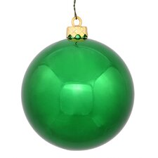 Christmas Ball Ornament with Cap (Set of 6)
