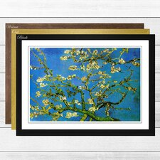 'Blossoming Almond Branches (1)' by Vincent Van Gogh Framed Painting Print