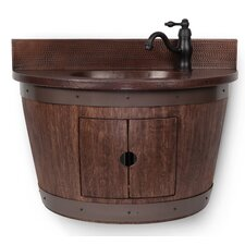 28 Single Wine Barrel Vanity Set by Premier Copper Products