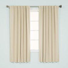 Basic Solid Blackout Thermal Rod Pocket Curtain Panels (Set of 2)