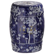 Downtown Midnight Kiss Garden Stool by World Menagerie