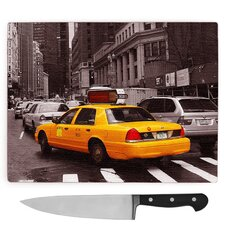 Yellow Taxi Cab New York City . Large Chopping Board