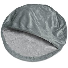 Microvelvet Snuggly Dog Cave Bed Hooded