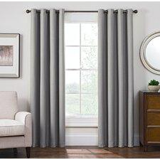 Solid Blackout Grommet Single Curtain Panel