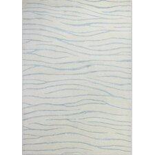 Francisco Hand-Tufted White/Aqua Area Rug