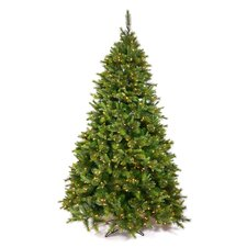 Cashmere 9.5' Green Artificial Christmas Tree with 1000 Dura-Lit Clear Lights with Stand