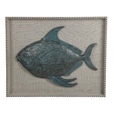 Turquoise Resin Fish Wall Decor