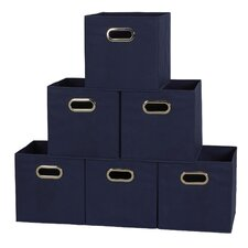 Fabric Storage Box Cube Set (Set of 6)