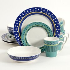 Lockhart 16 Piece Dinnerware Set, Service for 4
