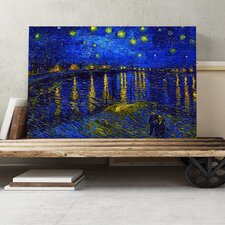 'Starry Night Rhone' by Vincent van Gogh Painting Print on Canvas