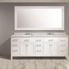 Halcomb 84 Double Sink Vanity Set with Mirror by Red Barrel Studio