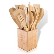 12 Piece Bamboo Kitchen Utensil Set