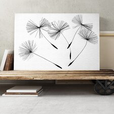 Flower Dandelion Seeds Graphic Art on Canvas