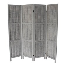 Beech 70 x 67 4 Panel Room Divider by Breakwater Bay