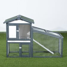 Large Wood Rabbit Hutch with Double Decker