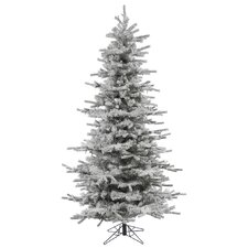7.5' Flocked Slim Sierra Christmas Tree