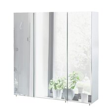Basic 70cm x 71cm Surface Mount Mirror Cabinet
