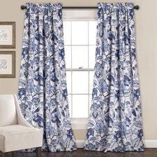 Deerpark Nature/Floral Blackout Rod Pocket Curtain Panel (Set of 2)