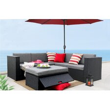 4 Piece Sectional Seating Group with Cushion