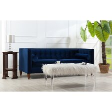 Hightower Tufted Chesterfield Sofa in Navy