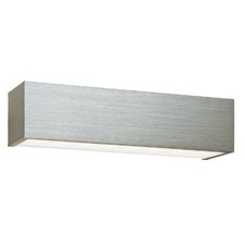 Shale Flush Wall Light in Brushed Silver